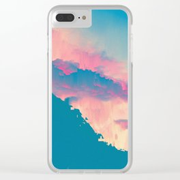 Glitched Landscapes Collection #6 Clear iPhone Case