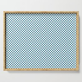 Jelly Bean Blue Polka Dots Serving Tray