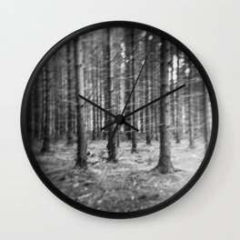 Dark forest Wall Clock