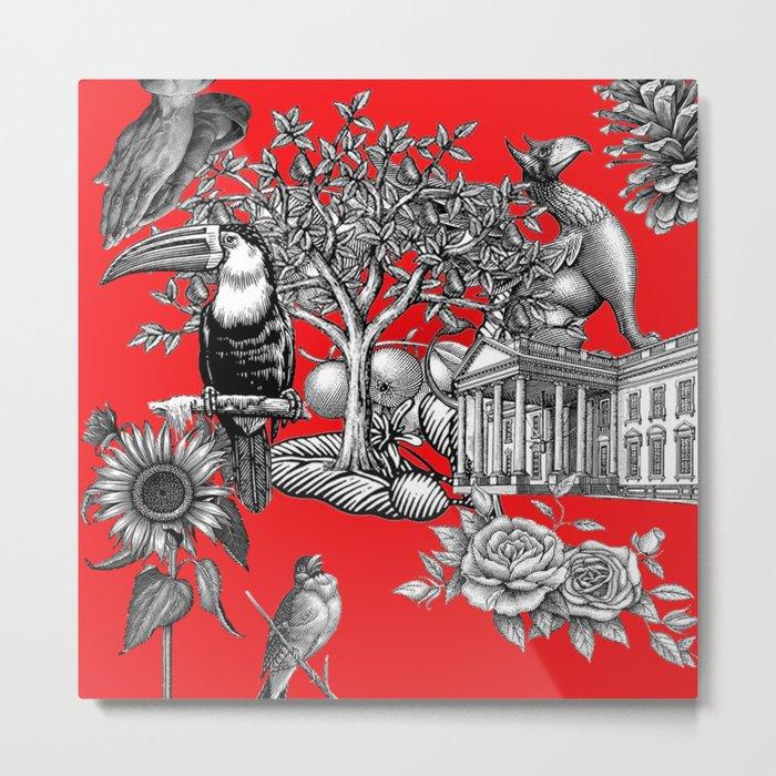 Collage rouge 5 Metal Print