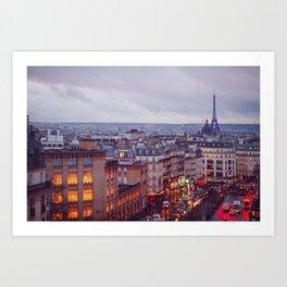 Rainy Paris. Art Print