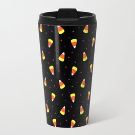 Halloween Candy Corn Pattern Travel Mug