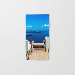 Volcano View,Santorini Hand & Bath Towel