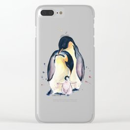 Penguins Family Clear iPhone Case