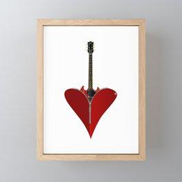 Love Guitar Framed Mini Art Print