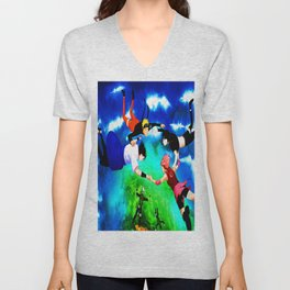 flying ninja Unisex V-Neck
