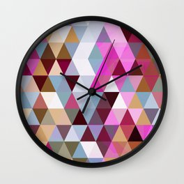 Triangle Mix #3 Wall Clock