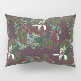 Bush Orchid Maroon Polka Pattern Pillow Sham