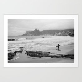 The Lone Surfer(2) Art Print