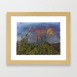 Winters Approach; Spring Stays Imbeded Framed Art Print