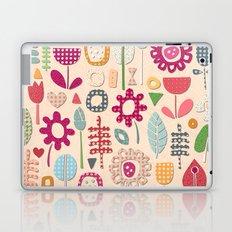 paper cut flowers peach Laptop & iPad Skin