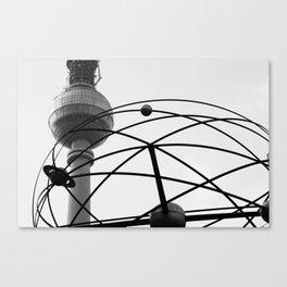Weltzeituhr Fernsehturm Canvas Print
