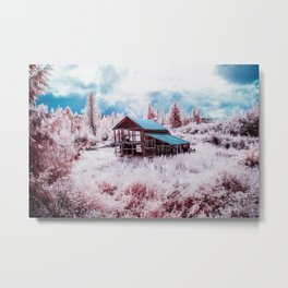 Old Barn In The Frost, Idaho Metal Print