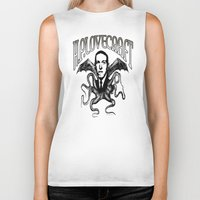 lovecraft Biker Tanks featuring H.P. LOVECRAFT by Bili Kribbs