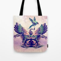 monster Tote Bags featuring monster by Ali GULEC