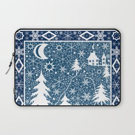 New year's design. Lace fabric . Laptop Sleeve