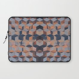 Tumbling Blocks (Sky Quilt 3) Laptop Sleeve