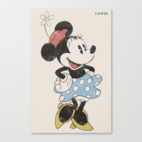 minnie Canvas Prints featuring Minnie Mouse by Adel
