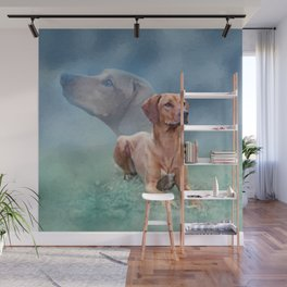 Rhodesian Ridgeback Dog Collage Wall Mural