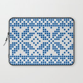 Blue & White Ethnic Pattern Laptop Sleeve
