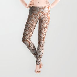 ROSE NIGHT MANDALA Leggings