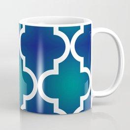 Quatrefoil - Teal and Blue Ombre Coffee Mug