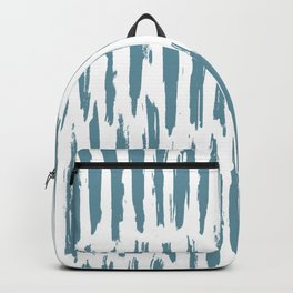 Vertical Dash Teal on White Backpack