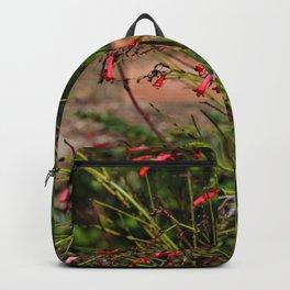 Spring garden red little flowers Backpack