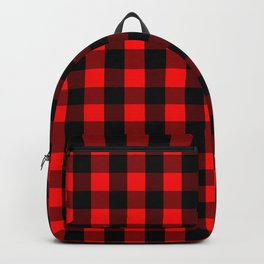 Classic Red and Black Buffalo Check Plaid Tartan Backpack