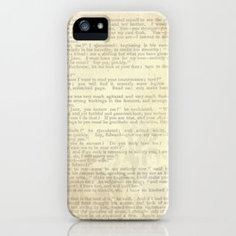 Jane Eyre, Mr. Rochester Proposal by Charlotte Bronte iPhone Case