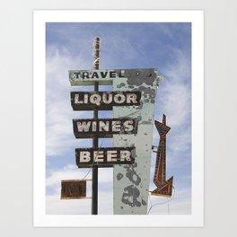 Liquor Wine Beer Art Print