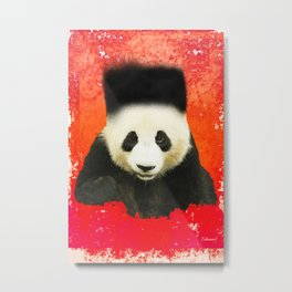 The Freshest Panda Metal Print