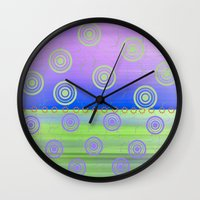 circles Wall Clocks featuring Circles by Fine Art by Rina