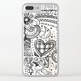 doodles by beccasartsycorner Clear iPhone Case