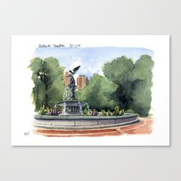 Bethesda Fountain - Central Park Canvas Print