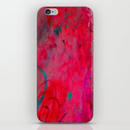 Pink Paint Spatter iPhone Skin
