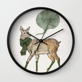 Heaven and Nature Sing Wall Clock