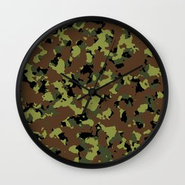 Jungle Camo Wall Clock