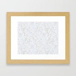 Tundra Marble Gold Mine Framed Art Print