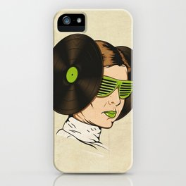 Princess L. was a DJ iPhone Case