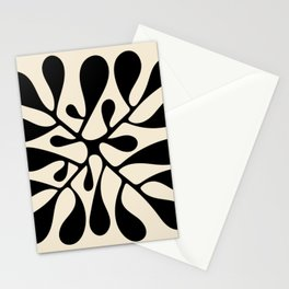 Matisse Inspired Abstract Cut Outs black Stationery Cards