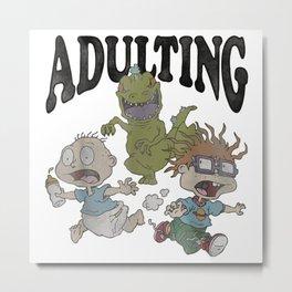 Adulting Raptor Metal Print