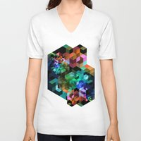 tetris V-neck T-shirts featuring TETRIS by Creative Streetwear