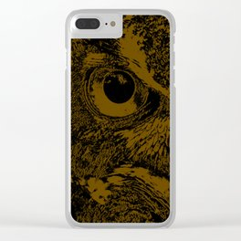 Owl Loves Dark! Clear iPhone Case