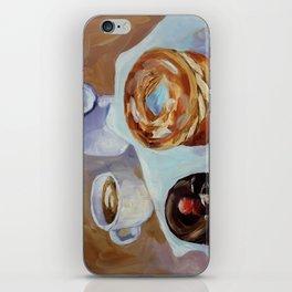 Desert, french breakfast, bonbon, coffee, sweet, food iPhone Skin