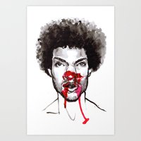 man with bloody nose 12 Art Print