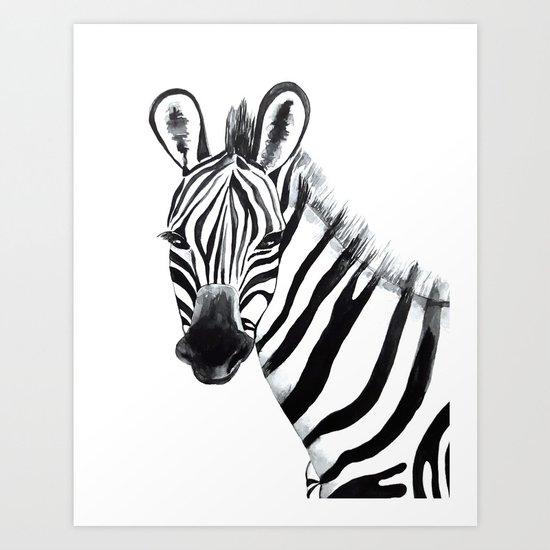 Zebra, animal Art Print