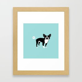 Boston Terrier funny fart dog pure breed gifts dog lovers Framed Art Print