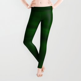 Emerald Green and Black Abstract Leggings