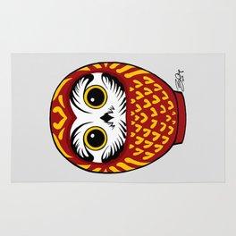 Red Fukuro Daruma Rug